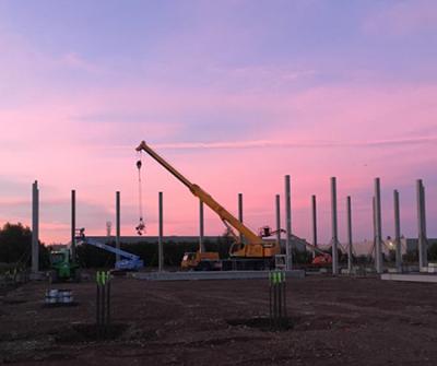 Début de la construction du nouveau bâtiment à la Zwedenstraat